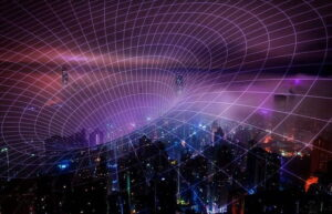 technology 5g aerial abstract background