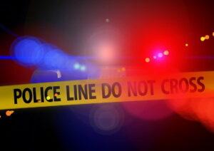 police crime scene blue light discovery