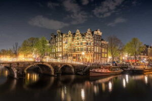 bridge river architecture amsterdam netherlands