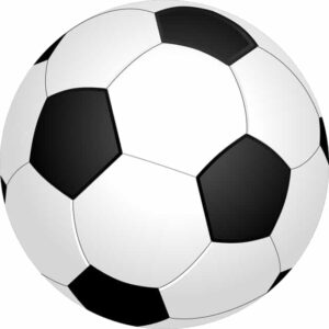 football ball sports soccer round black and white