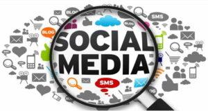 social media magnifying glass social media icons