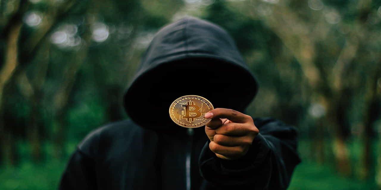 bitcoin coin hoodie mysterious man money