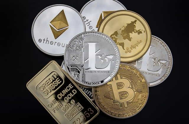 cryptocurrency concept blockchain money litecoin
