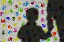 silhouette man child shadow hand holding hands
