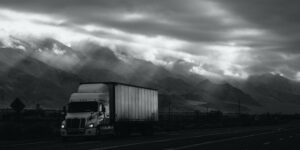 truck with clouds highway 395