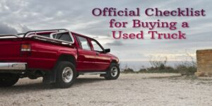 The Official Checklist for Buying a Used Truck