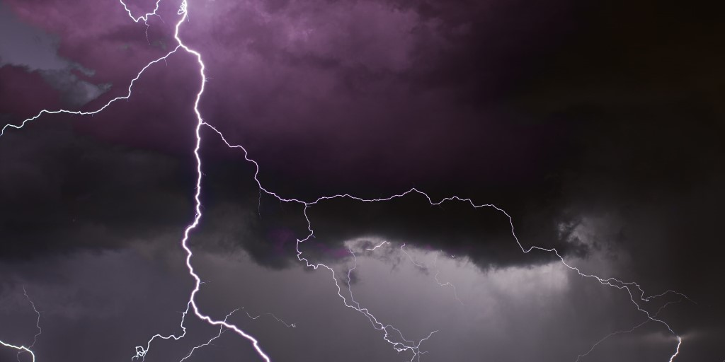 lightning lightning strike storm