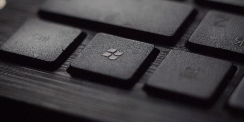 microsoft tech brand logo computer keyboard