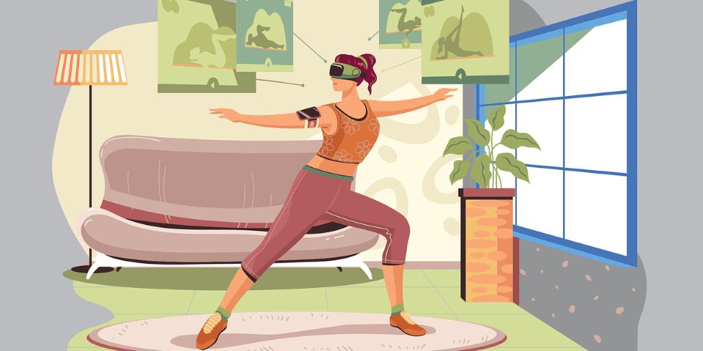 Girl Virtual Reality Headset Exercise Vr Headset