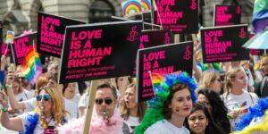 LGBTQ gay pride parade pride