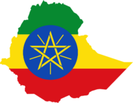 ethiopia flag map geography outline africa