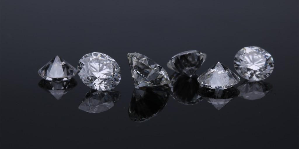Beautiful diamonds in macro