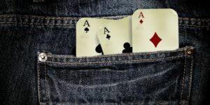 Jeans Playing Cards To Play Gambling Addiction