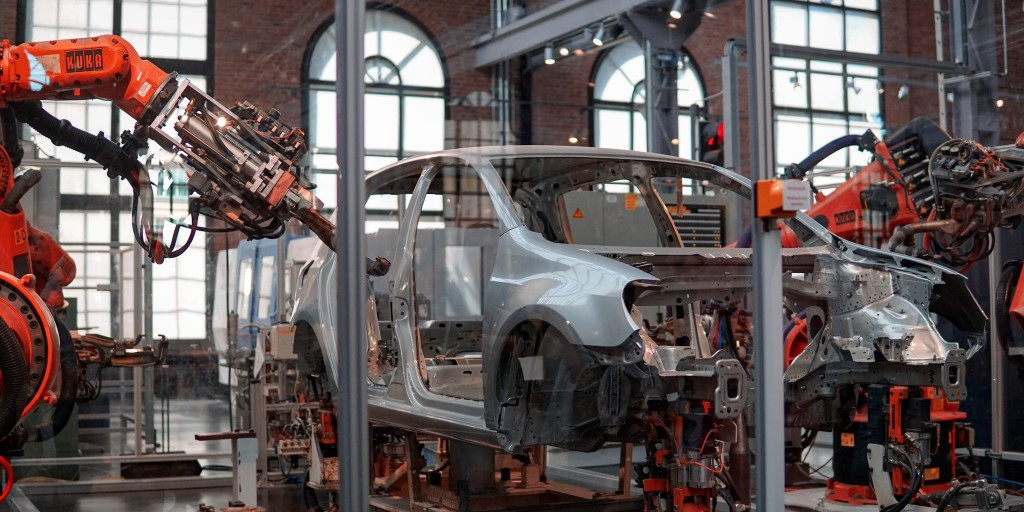 assembly line factory machine vehicle